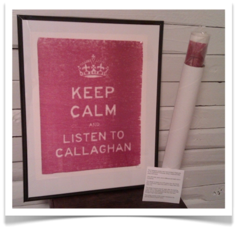 keep calm and listen to callaghan poster